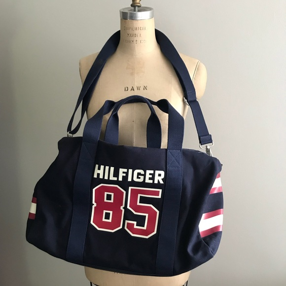Rare Tommy Hilfiger Sample Spell Out Duffle Bag. M 5b2804f60cb5aa095383c3aa e6feee0dfa437